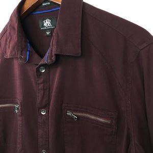 Rock & Republic Mens Button Up Shirt Size Large